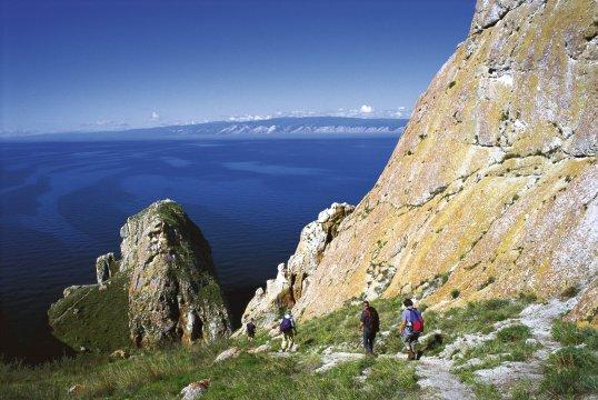 Wanderer am Baikalsee