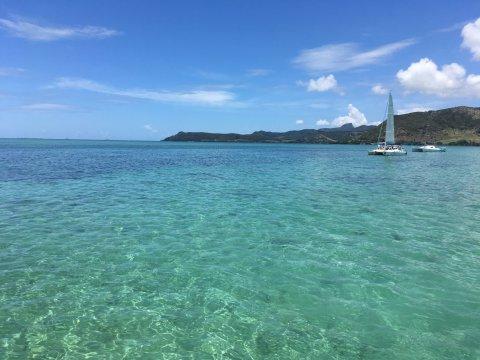 Indischer Ozean mit Boot