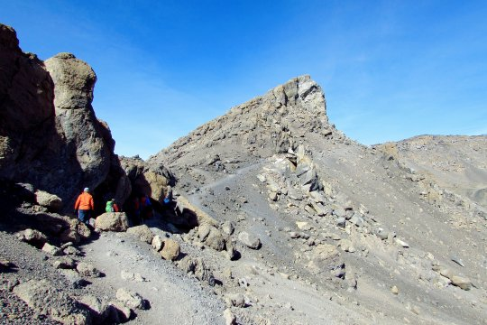 Auf dem Weg zum Uhuru Peak