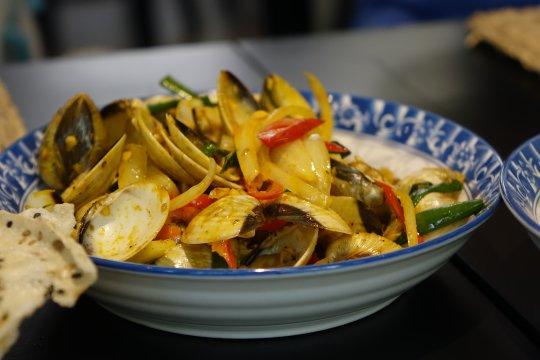 vietnamesicher Meeresfrüchtesalat