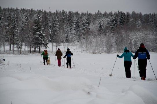 Schneeschuhwanderung am Basecamp