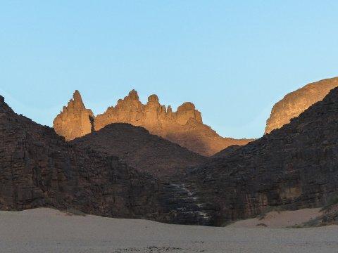 Bergketten im Hochland von Afara