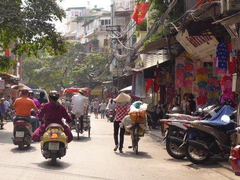 Gassengewirr in Hanoi