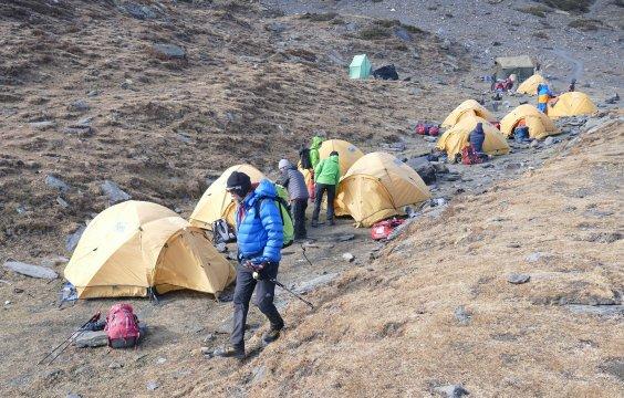 Zeltlager auf 4360 m