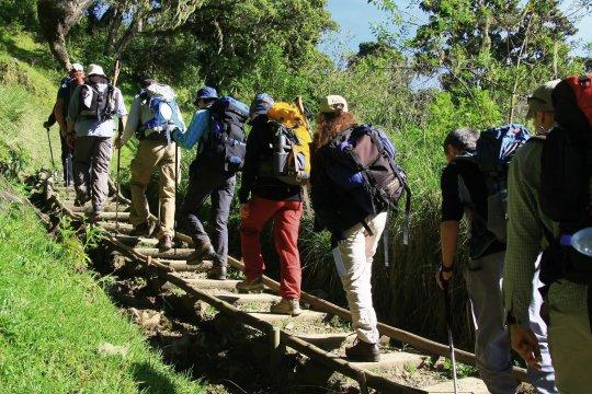 Mt. Meru Aufstieg zur Saddle Hut 2