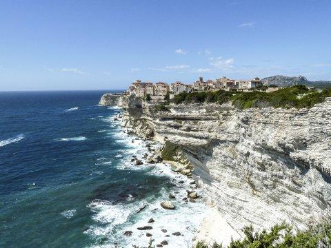 Blick auf Küste von Bonifazio