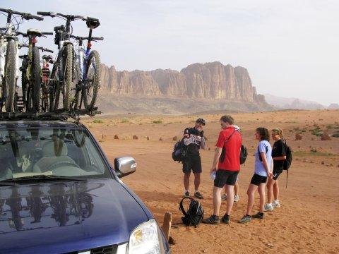 Angekommen im Wadi Rum