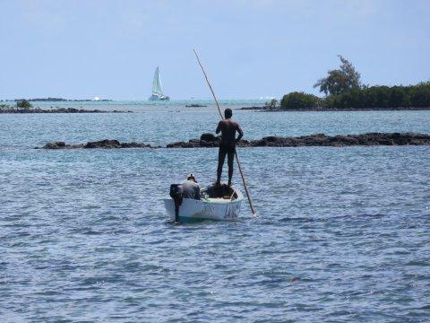 Fischerboot im Indischen Ozean