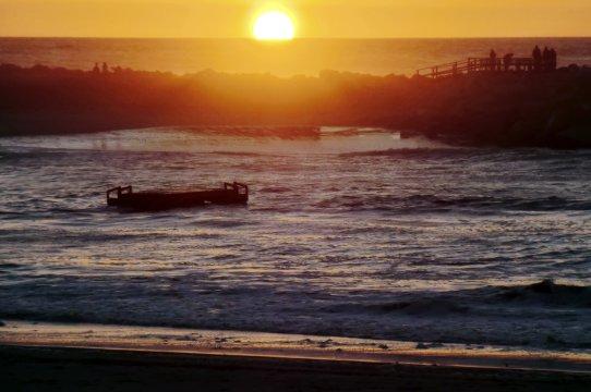 Sonnenuntergang in Swakopmund Swakopstrand bei Sonnenuntergang