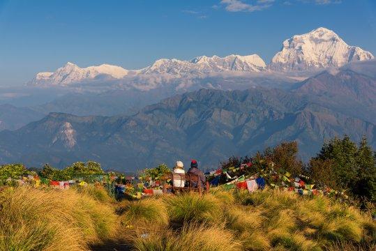 Aussicht auf Dhaulagiri vom Poon Hill