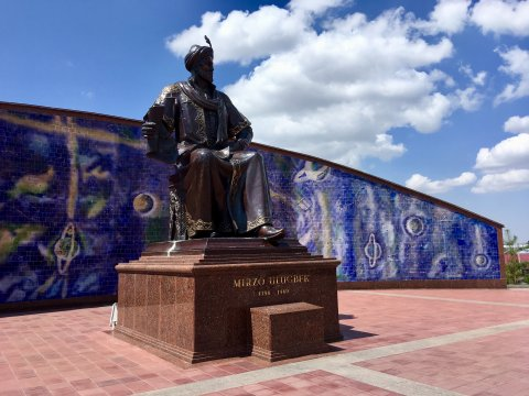 Ulug-Beg-Monument unweit des Observatoriums in Samarkand