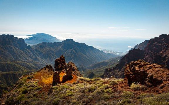 Ausblick auf die Berge La Palmas