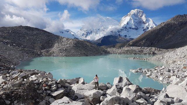 Lagune in der Cordillera Blanca