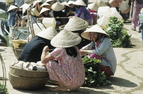 Marktszene in Vietnam