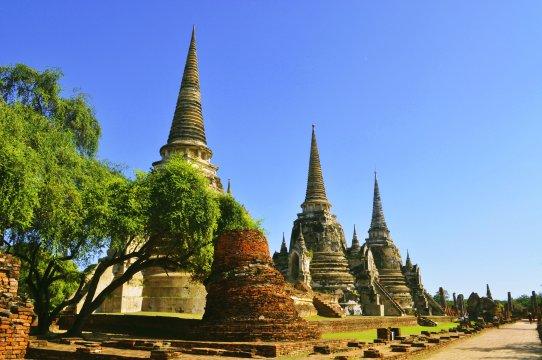 Tempelruinen in Ayutthaya