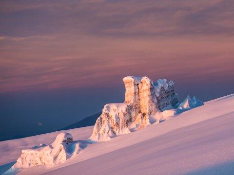 Gletscher im Morgenlicht