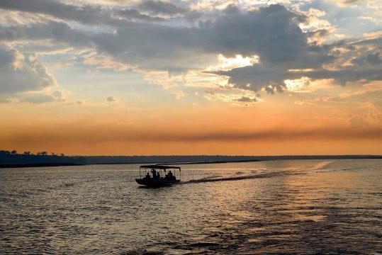 Boot auf dem Chobe