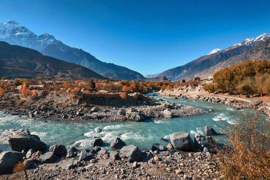 Der Fluss Kali Gandaki nahe Jomsom