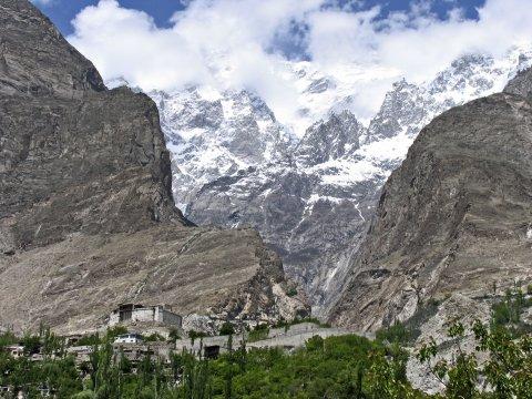 Berglandschaft im Hunza-Tal