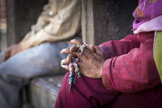 Hände einer Nepali