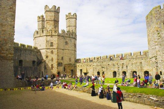 Wales Caernarfon Castle