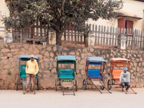 Madagaskar-Rikschafahrer
