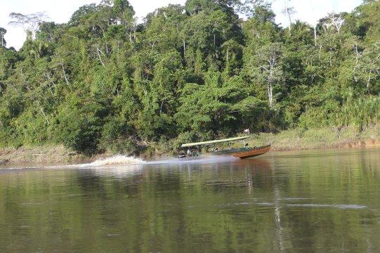 Boot am Amazonas Regenwald