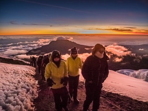 Die letzten Meter zum Uhuru Peak