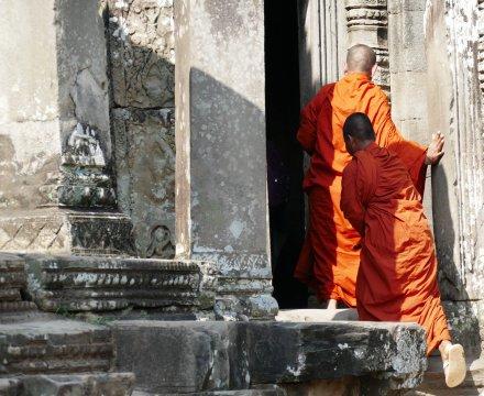 Mönche Angkor Wat