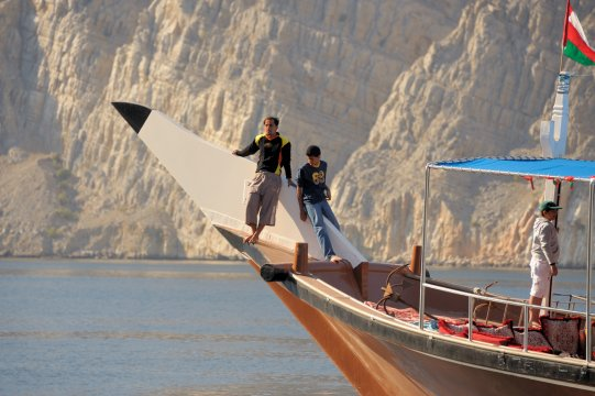 Mussandam, Dhaw-Fahrt