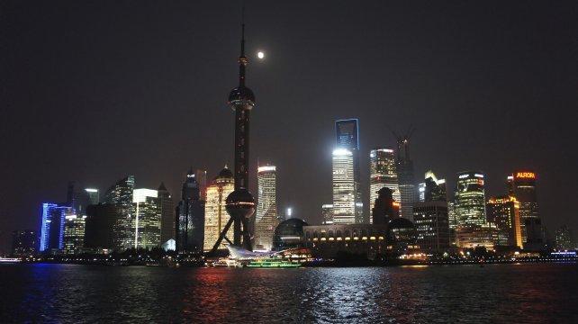 Shanghai Skyline nachts
