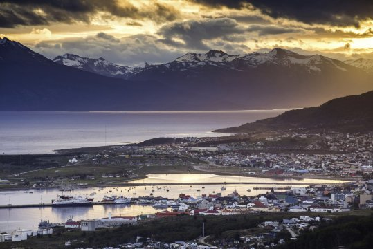 Sunset at Ushuaia the southern most city in the world Tierra del Fuego Patagonia Argentina 2
