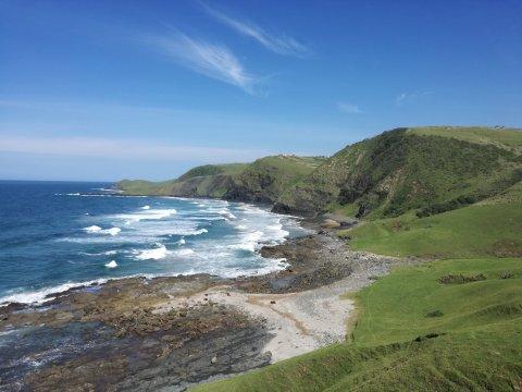 Bucht zwischen Coffee Bay Lubanzi und Bulungula Meerblick