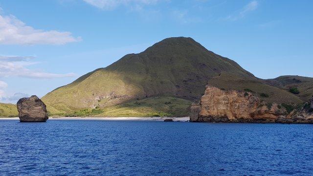 Blick vom Boot auf Padar Island