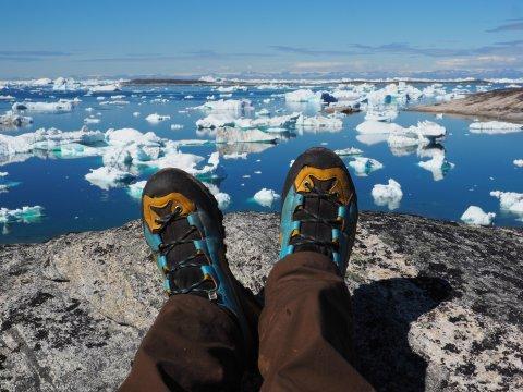 Pause mit Blick auf den Eisfjord