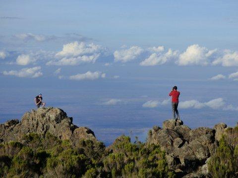 Fotomotiv am Northern Circuit, im Hintergrund die weite Savanne Kenias