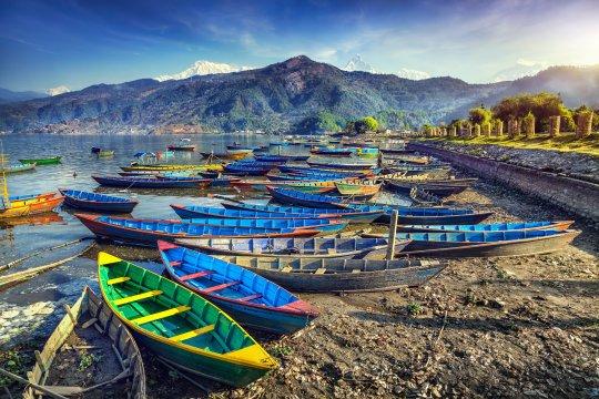 Boote am Phewa See Pokhara