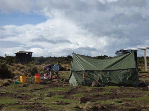 Mannschaftszelt Shira Camp I