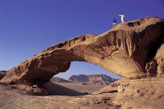 Felsbrücke in Wadi Rum 2