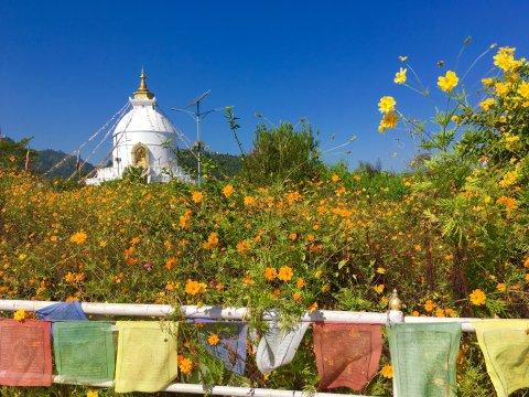 Shanti Stupa bei Pokhara