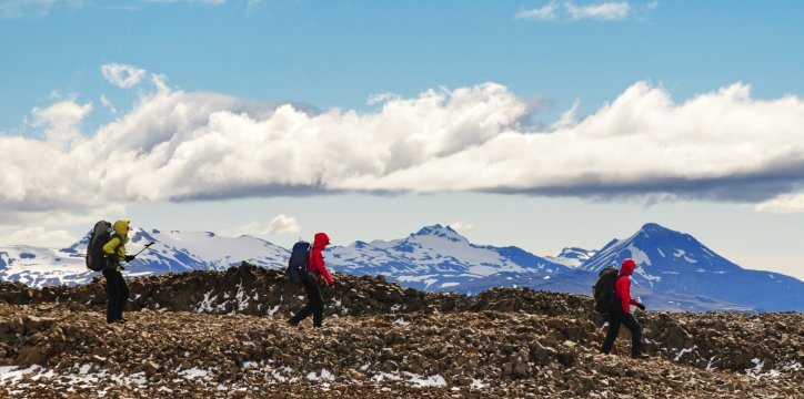 Wanderer im Vatnajökull-Nationalpark