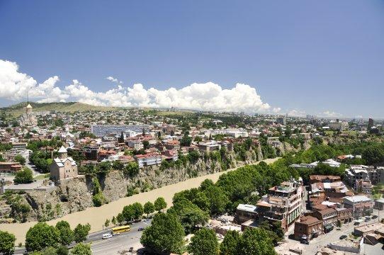 Blick über Tiflis