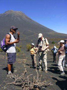 Fogo Gruppe Wanderer Vulkan Pico de Fogo_2
