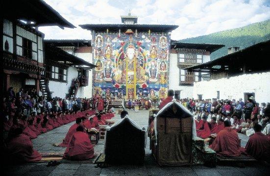 Klosterfest in Bhutan