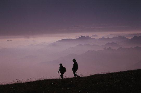 Wandern in stimmungsvollem Licht