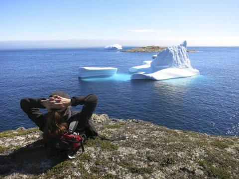 Blick auf Eisberg im Polarstrom