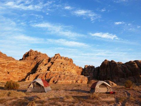 Jordanien Zelt Lager Camp Bergland