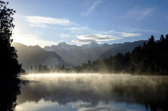 Neuseeland - Mirror Lake Morgennebel
