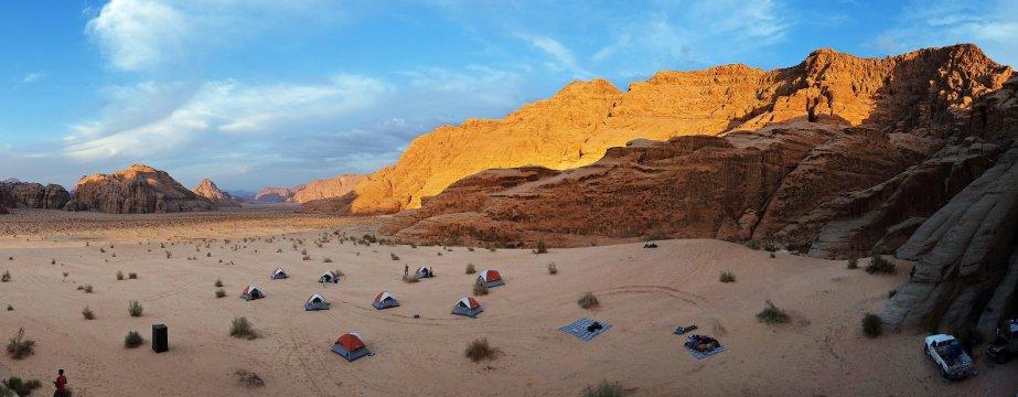 Jordanien Trekking Camp Zelt