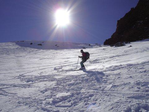 Taurus steile Skiabfahrt Mt. Erciyes 2